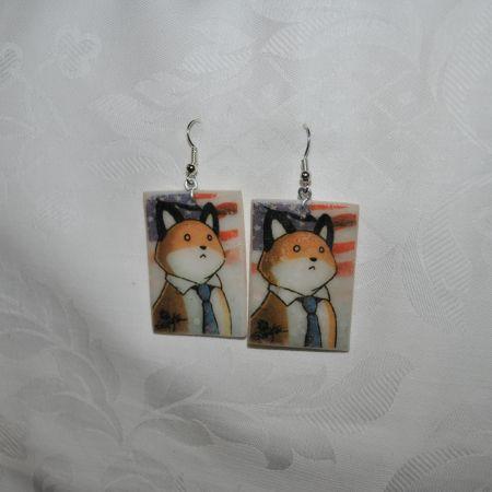 Серьги «American fox