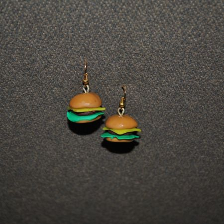 Серьги «Бургеры»
